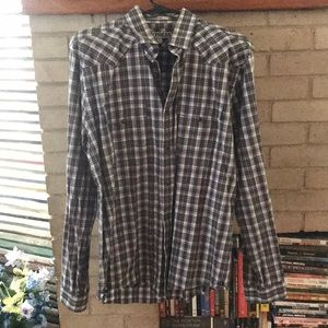 Plaid Express Button Down